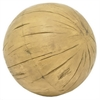Distressed Resin Ball - Brown Wood Tone
