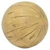 Distressed Resin Ball - Brown Wood Tone