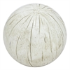 Distressed Resin Ball - Ivory