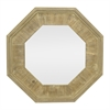 Octagon Wood Slat Mirror