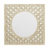 And Wood Wall Mirror With Lattice Overlay