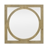 Wood Wall Mirror With Circle Overlay Detail