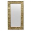 Natural Wood Slatted Wall Mirror