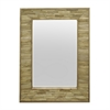 Natural Wood Slatted Wall Mirror