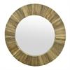 Natural Wood Slat Wall Mirror