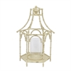 White Metal Pagoda Inspired Lantern - Lg