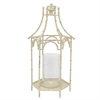 White Metal Pagoda Inspired Lantern - Sm