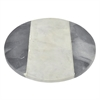 Round Marble Cutting Board With Black And White Detailing
