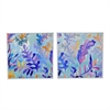 Framed Oil Painting Tropical Set Of 2
