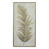 Leaf Painting In A Silver Finished Wood Frame - Oil On Canvas