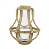 Wood Lantern W/Glass