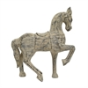 Horse Figurine In A Distressed Wood Finish