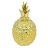 Ceramic Pineapple Jar - Gold