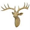 Resin Deer Wall Decor - Brown