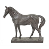 Resin Horse On Base - Brown