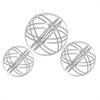 Set Of Three Metal Orbs In Silver