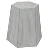 Wood Accent Table In Flat Gray Finish