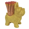 Resin Dog Pen Holder - Gold