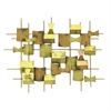 Geometric Metal Wall Decoration - Gold Tones
