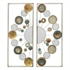 Panel Od Circles Metal Wall Decoration S/2 In Neutral Tones