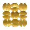 Clamshell Shaped Metal Wall Decoration Gold