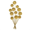 Balloon Metal Wall Decoration - Gold
