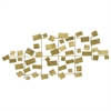 Scattered Rectangle Metal Wall Decoration - Gold Tones