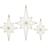 Star Open Wire Dcor S/3 - Gold