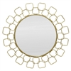 Round Link Metal Wall Mirror In Gold