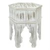 Wood Moroccan Inspired Accent Table In Natural Wood Finish