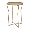Round Metal Accent Table - Bronze