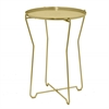 Round Metal Accent Table - Gold