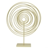 Decorative Spiral W/Base - Gold