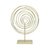 Decorative Spiral W/Base - Gold