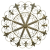Circular Metal Scroll Wall Art Finished In  Antque Gold