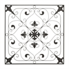 Ornate Square Metal Wall Art In A Rust Finish