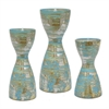 Ceramic Candle Set Of Two - S/3