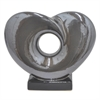 Ceramic Heart Shaped Table Top Sculpture