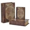 Globe Book Box  Set Of 3 - A  Globe Inspired Motif