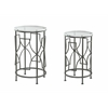 "Set of Two Nesting Tables H30 / 27"", Lexi Clear"