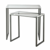 "Set of Two Nesting Tables H24 / 21"", Lexi Clear"