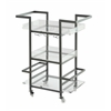 "Three Tier Bar Cart H35.00"", Lexi Clear"