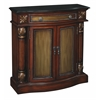 "One Drawer Two Door Cabinet H35.50"", Brown/Bronze"