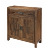 "One Drawer Two Door Cabinet H36.00"", Brown"