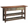"""Two Drawer Console Table H32.00"""", Natural Multicolored"""