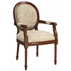 "Accent Chair H39.50"", Brown Frame / Beige Fabric"