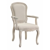 "Accent Chair H38.50"", Ivory Base / Ivory Fabric"