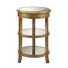 """Bel Air Accent Table H27.50"""", Mirror / Gold"""
