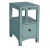 "One Drawer Accent Table H26.50"", Light Blue"