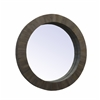 "Round Mirror H37.50"", Brown"